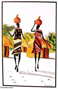 African Paintings for Sale by African Artist Albert Lizah African Paintings For Sale, Worli Painting, Art Africain, African Artists, Afro Art, Arts Ed, African Culture, African Design, Native Art