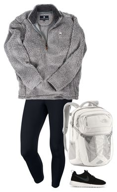 """I want to be homeschooled"" by browneyedbeauty01 ❤ liked on Polyvore featuring moda, NIKE e The North Face"