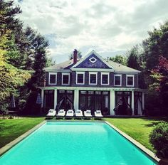 at home in the Hamptons...