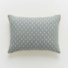 d45fb612285f Jacquard Leaf Pillow Cover  WestElm Modern Pillows