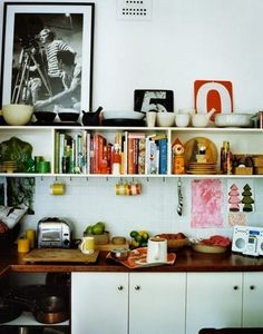 Small kitchen inspiration: shelves not cupboards