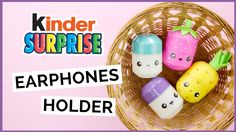 How to make diy Kinder surprise egg earphones holder. in this video tutorial i show how i customized surprise egg capsules into kawaii earphones holder and kawaii pill box. Diy Crafts For Girls, Fun Diy Crafts, Diy Arts And Crafts, Diy For Kids, Kawaii Crafts, Kawaii Diy, Diy Rangement, Diy Back To School, How To Make Diy