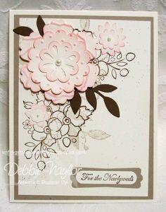 Bordering on Romance wedding card, Debbie Naylor