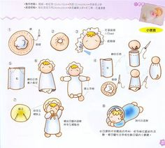 Bebezinho em feltro - Passo a passo