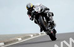 A Fantastic picture of Guy Martin coming over the Black Hill on the North West 200 track in Northern Ireland.