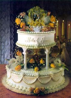 Image result for old school wilton wedding cakes