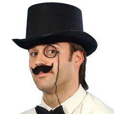 Adult Debonair Felt Costume Top Hat, Black