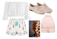 """""""First Day of School"""" by girlygirl1505 ❤ liked on Polyvore featuring Sans Souci, New Look, Clarks, MICHAEL Michael Kors and FirstDay"""