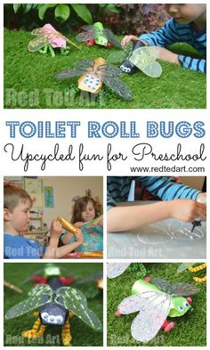 Red Ted Art's Toilet Paper Roll Minibeast Craft - if your kids love bugs or minibeasts, make these fabulous Toilet Paper Roll Bugs this Spring or Summer. Summer Crafts For Toddlers, Easy Crafts For Kids, Toddler Crafts, Craft Kids, Cardboard Tube Crafts, Toilet Paper Roll Crafts, Insect Crafts, Bug Crafts, Yarn Crafts