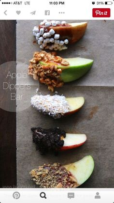 Inexpensive finger food ideas for baby shower. @stonecoldml This works for the Apple of My Eye baby shower theme.