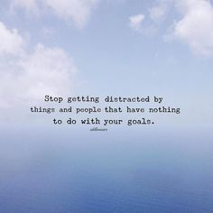When you give up on distractions you start to realize how much precious time you have to build the best version of yourself. No decision will pay off more than prioritizing your life and giving extreme focus and energy to the things with the highest return. When you're doing the self work you have to eliminate things that are keeping you blind from your truth. You can't be afraid of rebirth. You have to let go and be hungry for change.  Distractions:  There's just too many distractions…