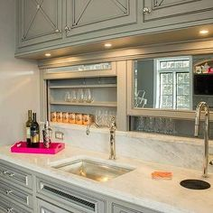 Wet Bar - Design photos, ideas and inspiration. Amazing gallery of interior design and decorating ideas of Wet Bar in living rooms, dining rooms, kitchens, basements by elite interior designers - Page 9 House, Home, Luxury Bar, Home Bar Designs, Kitchen Remodel, Bars For Home, Finishing Basement, Indoor Bar, Kitchen Design