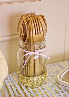 pink and gold Birthday Party Ideas | Photo 8 of 38 | Catch My Party