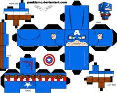 Captain America - Marvel - Papercraft