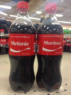 My mom and I found these two cokes at Kroger and she thought it was so me.