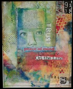 """""""Peace of Mind""""  Mixed Media collage on artist board."""