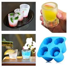 Make your own shot glasses made of ice! 😍 Great for summer.#SUMMER#COOL#