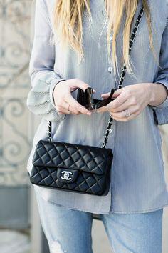 denim + chanel // stripes // blue // fashion // style // eatsleepwear