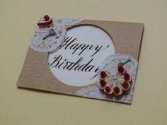 ケーキ クイリング card and quilling cake