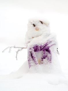 Lumiukko Tähtitorninmäellä