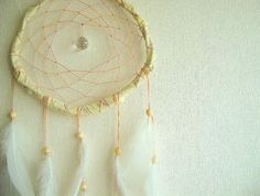 Large Dream Catcher  Golden Magic  With Sparkling by perpetumobile, $32.00