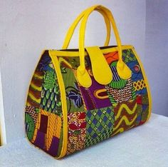 African Fabric Handmade Bag Ankara Design by EJAfricanProducts
