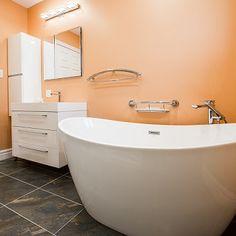 Clawfoot Bathtub, Teak, Bathroom, Washroom, Full Bath, Bath, Bathrooms