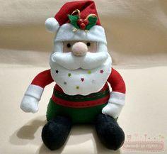 Passo a Passo: Papai Noel de Feltro Sentado - Cantinho da Thiana - Aprenda Artesanato, Feltro e mais