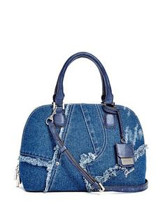 Dany Denim Dome Satchel at Guess