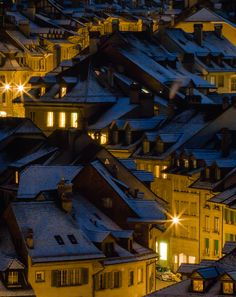 ~~Old Town ~ Bern, Switzerland by tom.leuzi~~So magical, I wish I was there right now. Basel, The Places Youll Go, Places To See, Colors Of The World, Austria, Jaune Orange, Blue Yellow, Navy Blue, Mustard Yellow