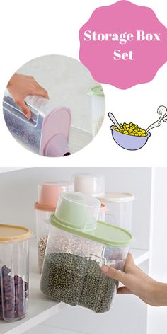 Storage Box Set | Food Container | Cereal Container | Food storage Box | Plastic Storage Set | PP Storage Box | Food Storage | Organization | Organizers | Order | Home decor | Kitchen Design | Kitchen Storage | Kitchen Accessories | Kitchen Tools | Storage | Space Saving  #foodcontainer #storageboxset #orderconcept