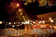 Deering Estate wedding lighting LOVE THE LIGHTS!!! I WOULD LIKE TO HAVE DARK PURPLE/FUCHSIA BACK LIGHTING