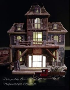 "The Rogue Stamper Rustic ski lodge  SVGCuts Maple Manor kit, Bo Bunny ""Altitude"" paper"