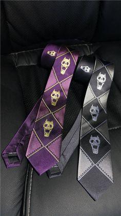 Jojo JoJo's Bizarre Adventure KILL A JACQUARD Cosplay Tie Top Quality Purple