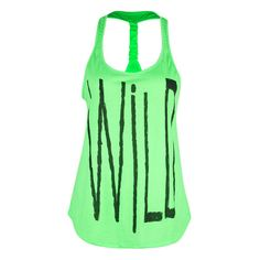 FULL TILT Wild Womens Tank ($13) ❤ liked on Polyvore featuring tops, shirts, tank tops, tanks, graphic tees & tanks, women, graphic tank tops, racer back tank, green tank top and graphic racerback tank