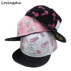 LOVINGSHA Boy Baseball Caps 3-8 Years Old Kid Fish Bone Design Snapback Caps High Qaulity Adjustable Cap  For Girl  CC049