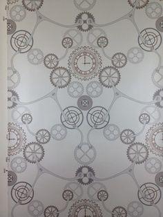 Clockwork Copper Wallpaper industrial-wallpaper