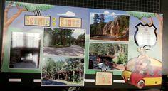 Scenic route scrapbook layout, Road trip,  South Dakota Iron mountain Rd. scrapbooking www.Justkitting.citymax.com