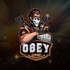 Obey Stay motivated everyday so you feel better  Team Logo Design, Logo Desing, Mascot Design, Badge Design, Mobile Logo, Mobile Art, Video Game Logos, Youtube Logo, Esports Logo