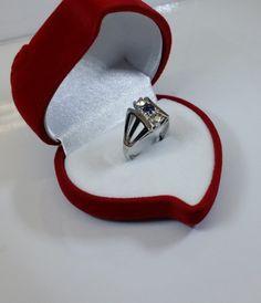 173 mm Ring 925 Silber Saphir und Kristalle SR146 von Schmuckbaron
