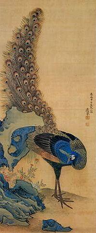 円山応挙(Maruyama Okyo) peacock
