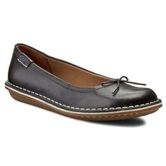 Półbuty CLARKS - Tustin Talulah 261156304 Black Leather