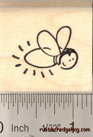 firefly/lightning bug stamp