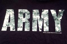 United States Army Camouflage Logo T-Shirt Adult M Medium