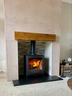 Tinderbox stove. Woodburner. Eco design. Modern Stoves, Roof Extension, Log Burner, Flat Roof, Wood Burning, Fireplaces, Home Appliances, House Design, Living Room