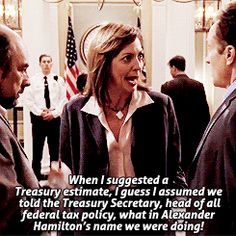 When I suggested a Treasury estimate, I guess I assumed we told the Treasury Secretary, head of all federal tax policy, what in Alexander Hamilton's name we were doing!