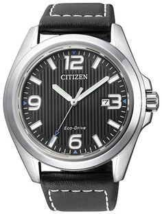 6cd1521a63e7 Citizen Aw1430-19E Eco-Drive Black Dial Stainless Men S Watch Venta De  Relojes