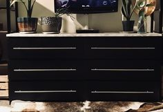 Simple Malm Dresser Upgrade with Marble top