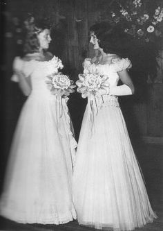 """american-nostalgia: """"Being nervous before"""" is how the debutante Jacqueline inscribed this photograph, taken before a dinner dance that served as a joint coming-out party for her and Newport friend Rose Grosvenor."""