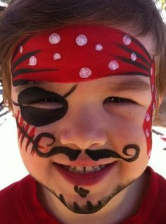 Pirate child Maquillage enfant pirate Pirate Plus child makeup - Pirate Face Paintings, Face Painting For Boys, Face Painting Designs, Paint Designs, Body Painting, Simple Face Painting, Superhero Face Painting, Boy Face, Child Face